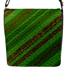 Stripes Course Texture Background Flap Messenger Bag (S)