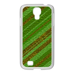 Stripes Course Texture Background Samsung GALAXY S4 I9500/ I9505 Case (White)