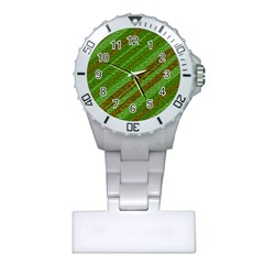 Stripes Course Texture Background Plastic Nurses Watch