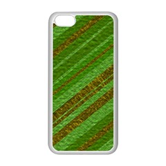 Stripes Course Texture Background Apple iPhone 5C Seamless Case (White)