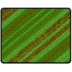 Stripes Course Texture Background Double Sided Fleece Blanket (Medium)