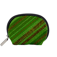 Stripes Course Texture Background Accessory Pouches (Small)
