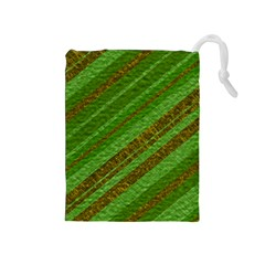Stripes Course Texture Background Drawstring Pouches (Medium)