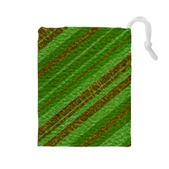 Stripes Course Texture Background Drawstring Pouches (Large)