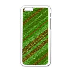 Stripes Course Texture Background Apple iPhone 6/6S White Enamel Case