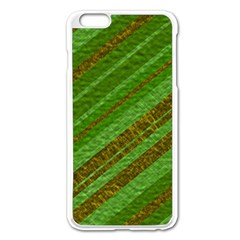 Stripes Course Texture Background Apple iPhone 6 Plus/6S Plus Enamel White Case