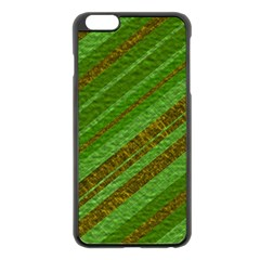 Stripes Course Texture Background Apple iPhone 6 Plus/6S Plus Black Enamel Case