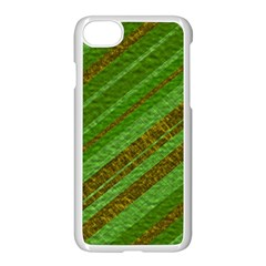 Stripes Course Texture Background Apple iPhone 7 Seamless Case (White)