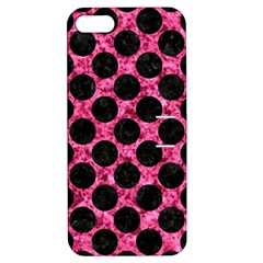 CIR2 BK-PK MARBLE (R) Apple iPhone 5 Hardshell Case with Stand