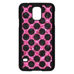 CIR2 BK-PK MARBLE (R) Samsung Galaxy S5 Case (Black)