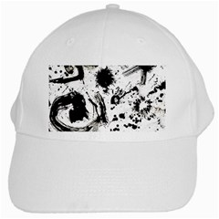 Pattern Color Painting Dab Black White Cap