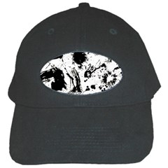 Pattern Color Painting Dab Black Black Cap