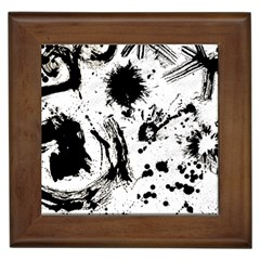Pattern Color Painting Dab Black Framed Tiles