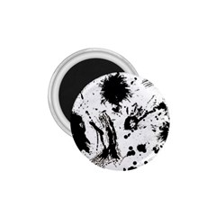 Pattern Color Painting Dab Black 1.75  Magnets