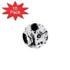 Pattern Color Painting Dab Black 1  Mini Buttons (10 pack)