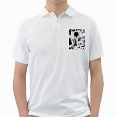 Pattern Color Painting Dab Black Golf Shirts