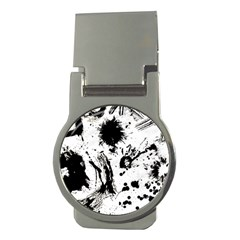 Pattern Color Painting Dab Black Money Clips (Round)