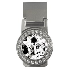 Pattern Color Painting Dab Black Money Clips (CZ)