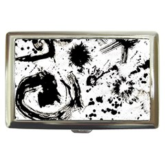 Pattern Color Painting Dab Black Cigarette Money Cases