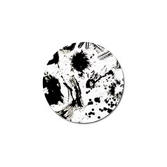 Pattern Color Painting Dab Black Golf Ball Marker