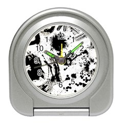 Pattern Color Painting Dab Black Travel Alarm Clocks