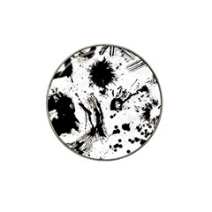 Pattern Color Painting Dab Black Hat Clip Ball Marker (4 pack)