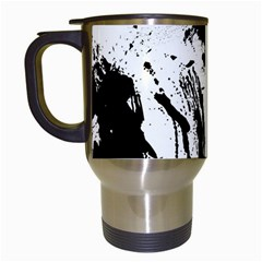 Pattern Color Painting Dab Black Travel Mugs (White)