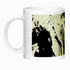 Pattern Color Painting Dab Black Night Luminous Mugs