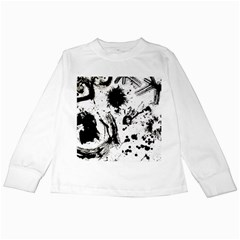 Pattern Color Painting Dab Black Kids Long Sleeve T-Shirts