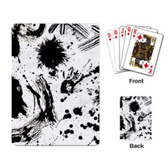 Pattern Color Painting Dab Black Playing Card