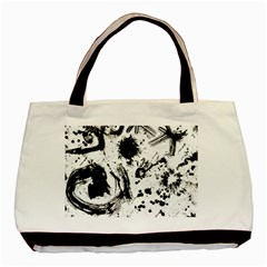 Pattern Color Painting Dab Black Basic Tote Bag
