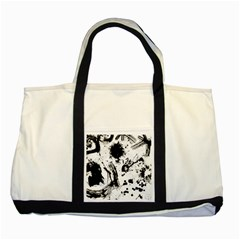 Pattern Color Painting Dab Black Two Tone Tote Bag