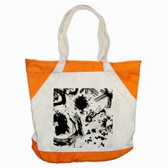 Pattern Color Painting Dab Black Accent Tote Bag