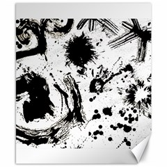 Pattern Color Painting Dab Black Canvas 8  x 10