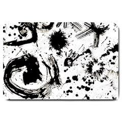 Pattern Color Painting Dab Black Large Doormat