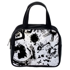 Pattern Color Painting Dab Black Classic Handbags (One Side)