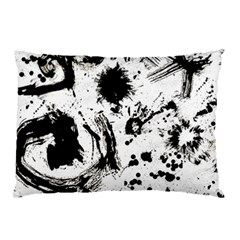 Pattern Color Painting Dab Black Pillow Case