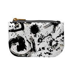 Pattern Color Painting Dab Black Mini Coin Purses