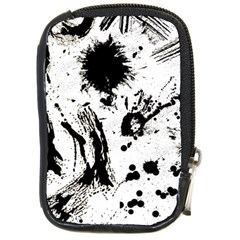 Pattern Color Painting Dab Black Compact Camera Cases