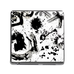 Pattern Color Painting Dab Black Memory Card Reader (Square)