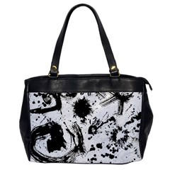 Pattern Color Painting Dab Black Office Handbags