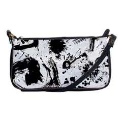 Pattern Color Painting Dab Black Shoulder Clutch Bags