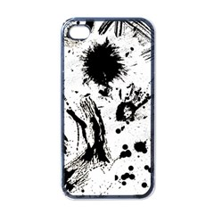 Pattern Color Painting Dab Black Apple iPhone 4 Case (Black)