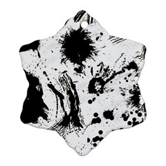 Pattern Color Painting Dab Black Ornament (Snowflake)