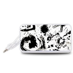 Pattern Color Painting Dab Black Portable Speaker (White)