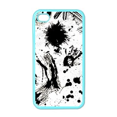 Pattern Color Painting Dab Black Apple iPhone 4 Case (Color)