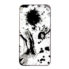 Pattern Color Painting Dab Black Apple iPhone 4/4s Seamless Case (Black)