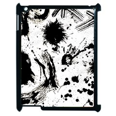 Pattern Color Painting Dab Black Apple iPad 2 Case (Black)