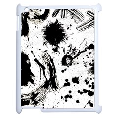 Pattern Color Painting Dab Black Apple iPad 2 Case (White)