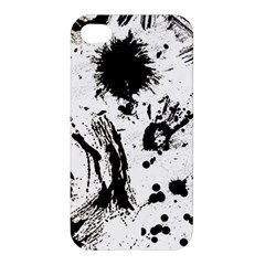 Pattern Color Painting Dab Black Apple iPhone 4/4S Premium Hardshell Case